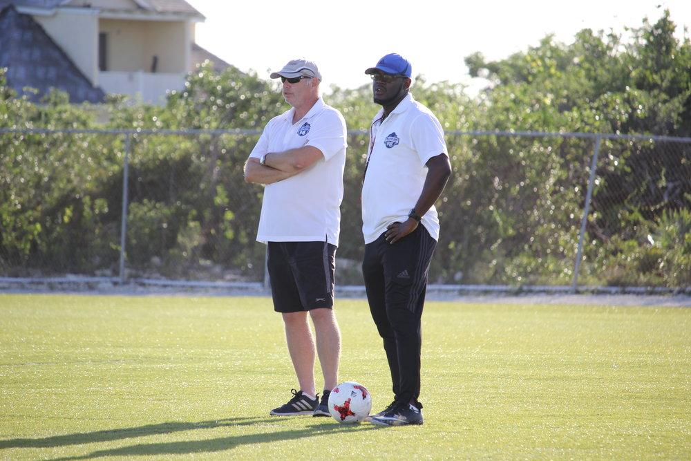 Womens National Team Coaches L-R : Steven Maclaren and Damien Grant