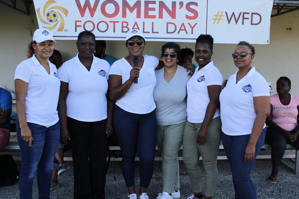 L-R Patrice Senior, Paula Garland, Sonia Bien-Aime, Drani Saunders, and Tamara Hall