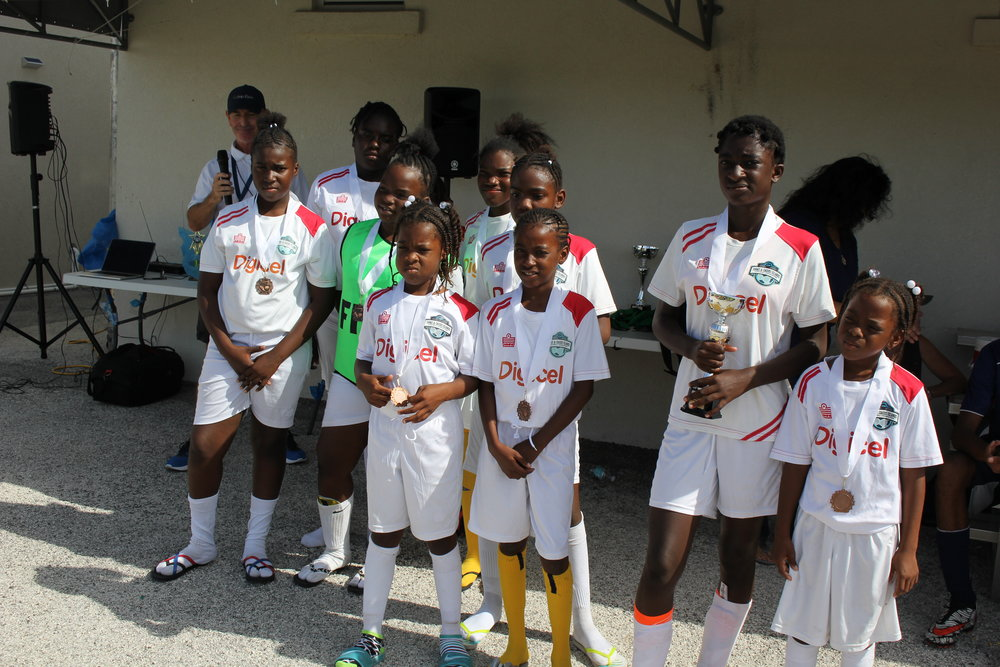 Girls 3rd place- South Caicos