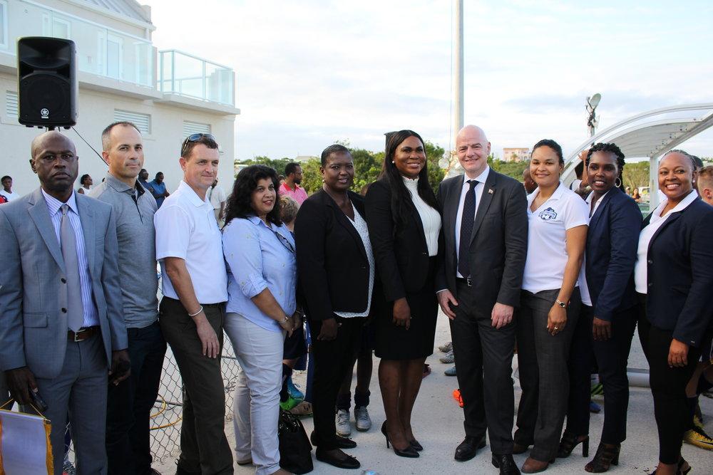 TCIFA Executive Committee with TCIFA and FIFA President