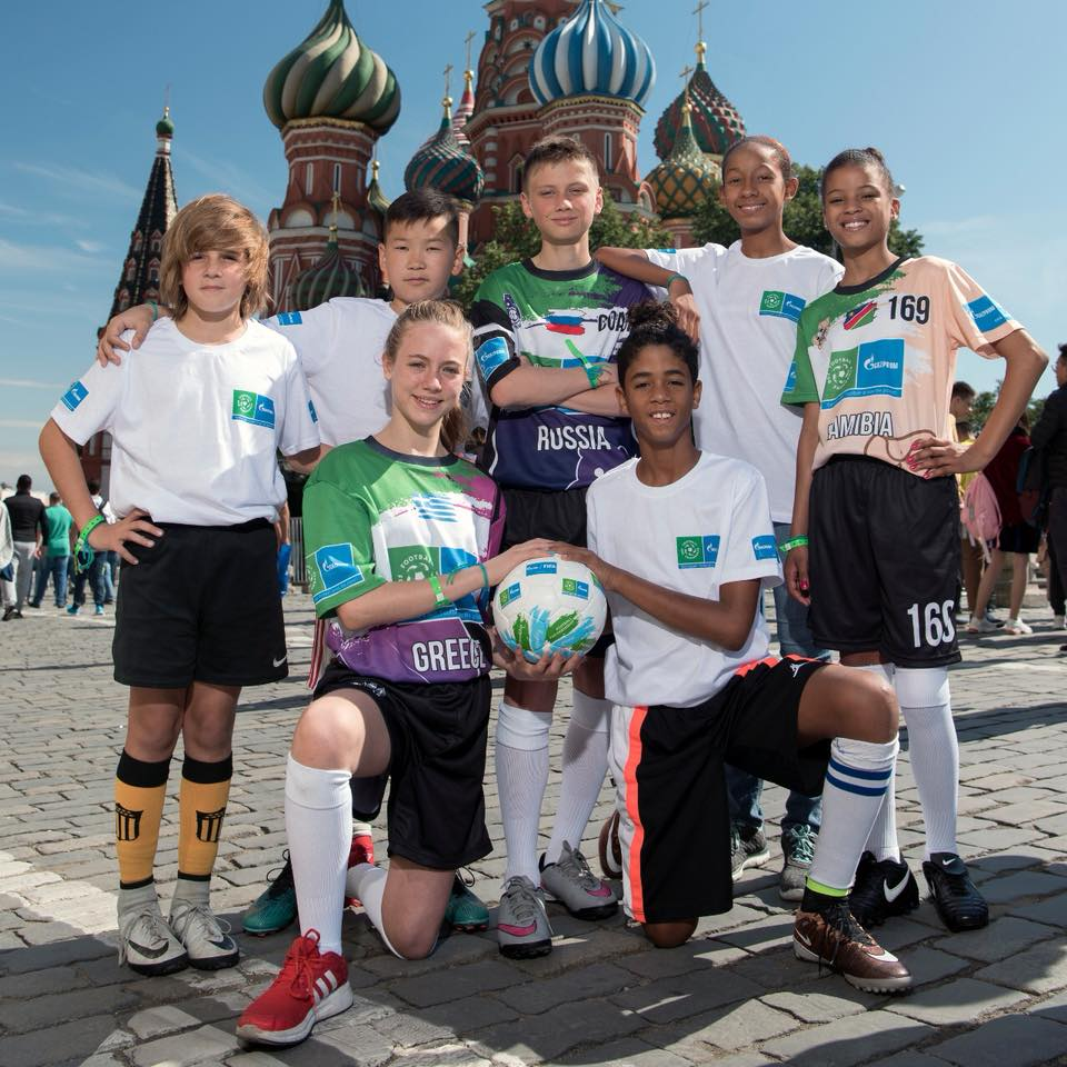 Thais and friends visit the Red Square Kremlin in Moscow Russia