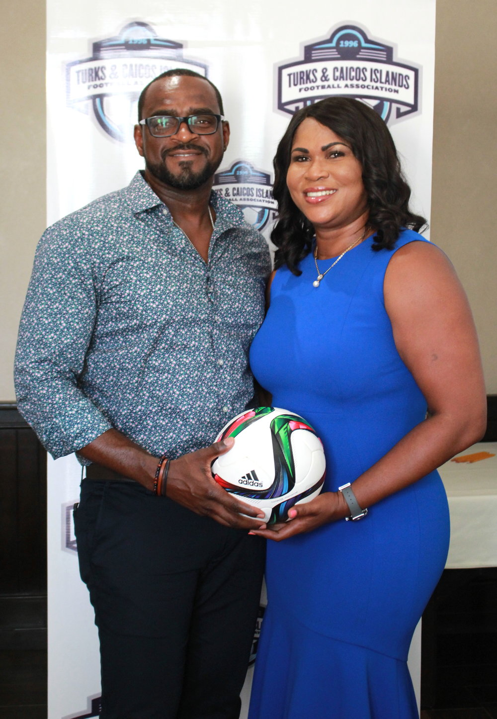 Guardvin Missick and President Sonia Fulford