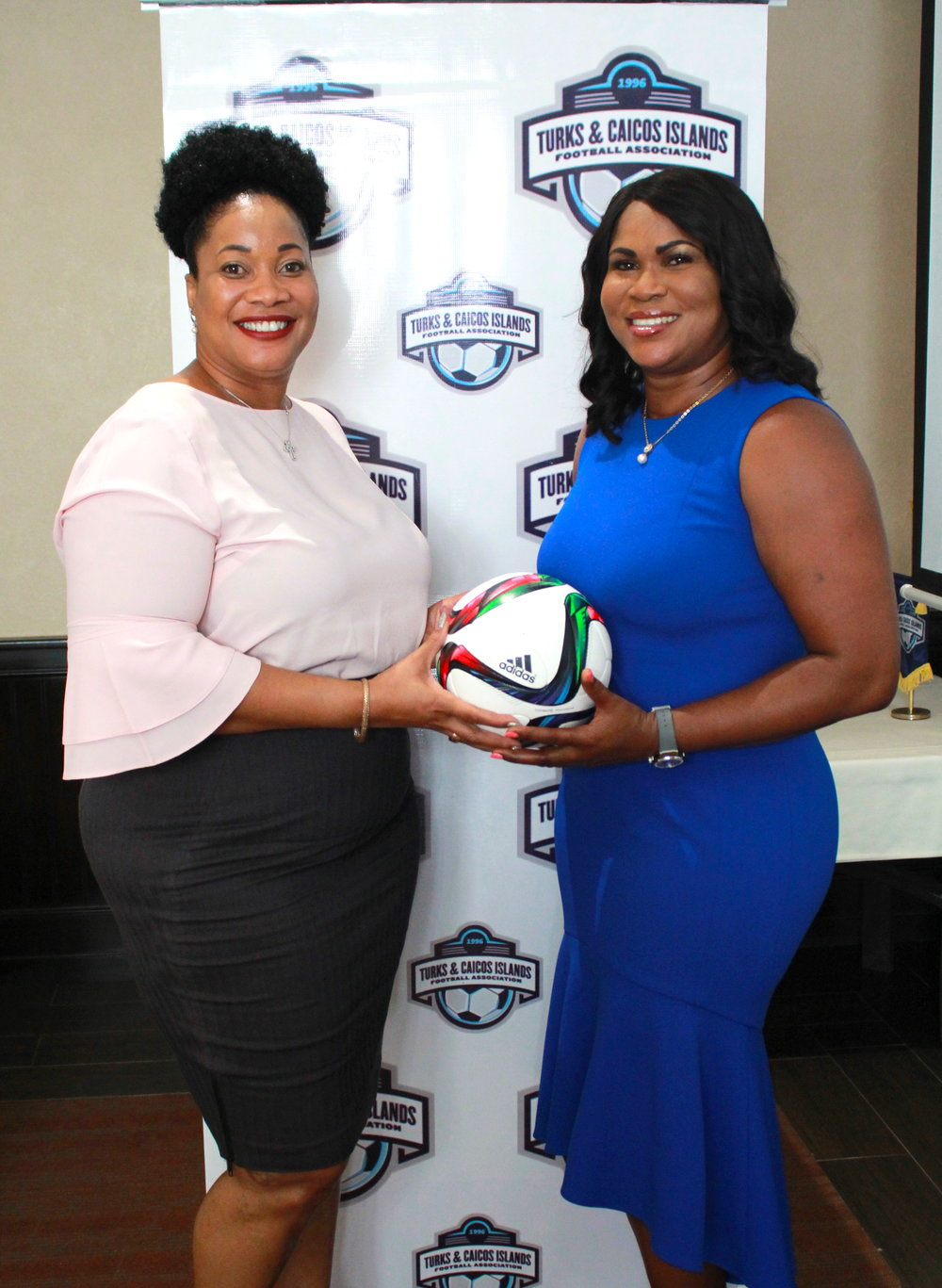 Director of TCI Human Rights Commission Sabrina Green and President Sonia Fulford