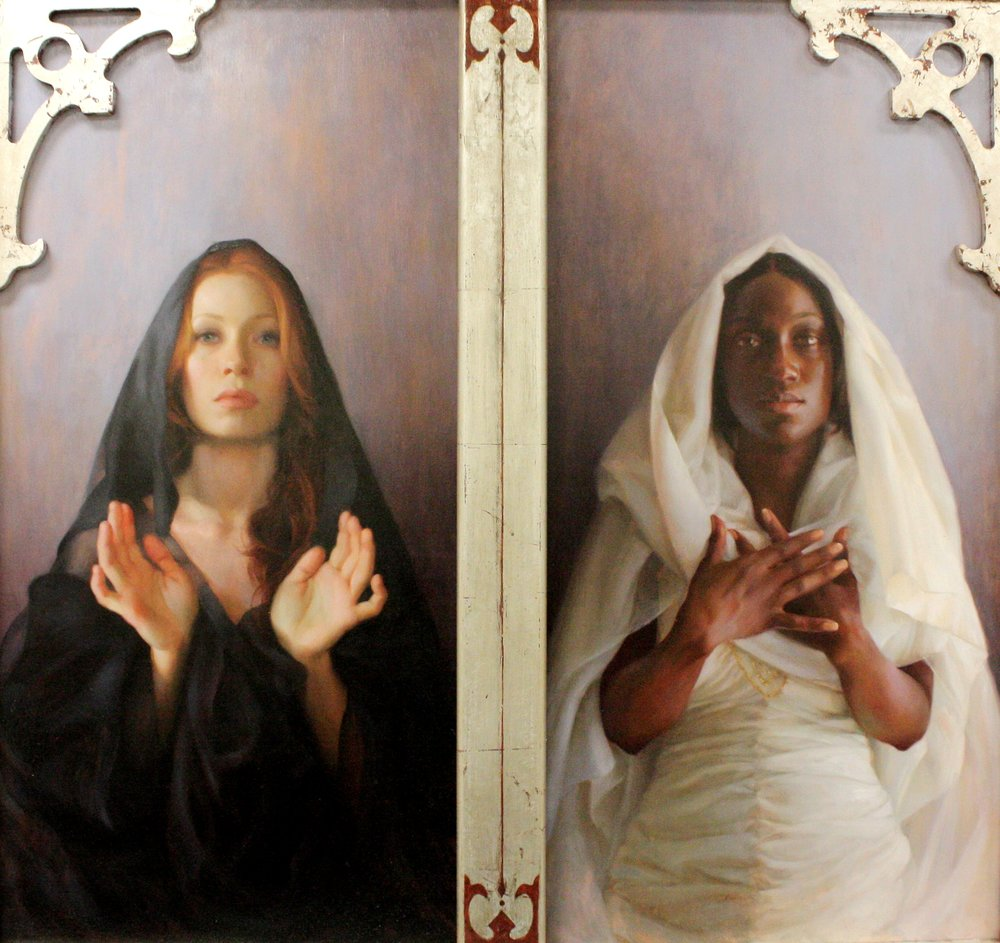 Adrienne Stein, Universal Mother of Compassion, oil on mahogany, 2010.JPG