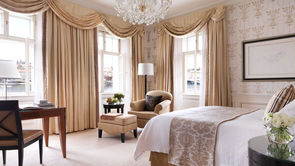 Decadent decor fills this historic room at the  Four Seasons  in Prague.