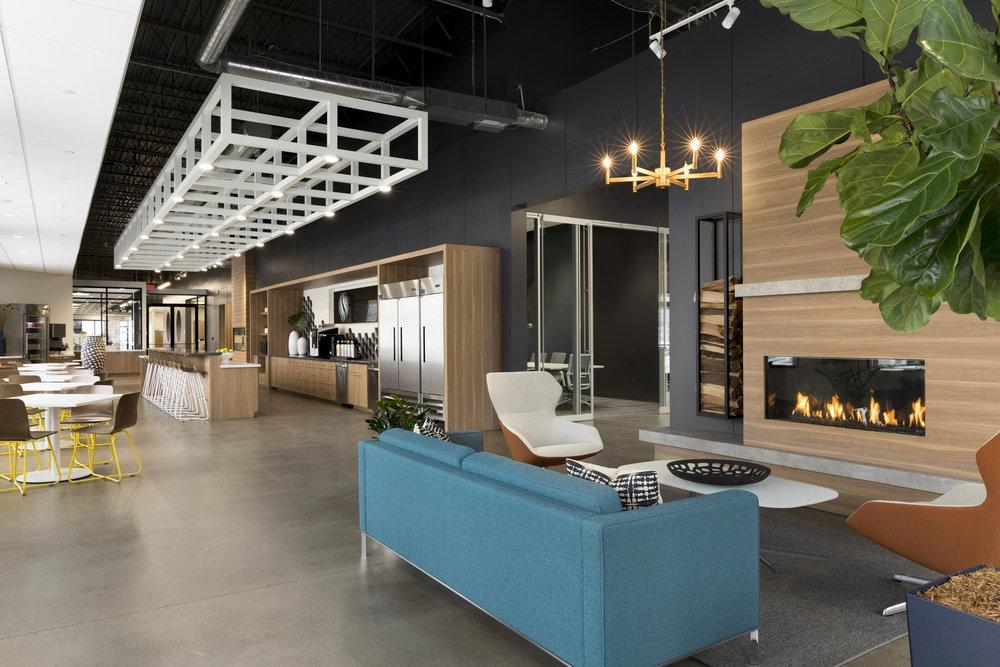 Workplace Cafeteria Design | Vela Creative Interior Design