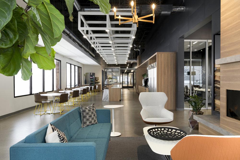 Office Cafeteria | Vela Creative Interior Design | Minneapolis