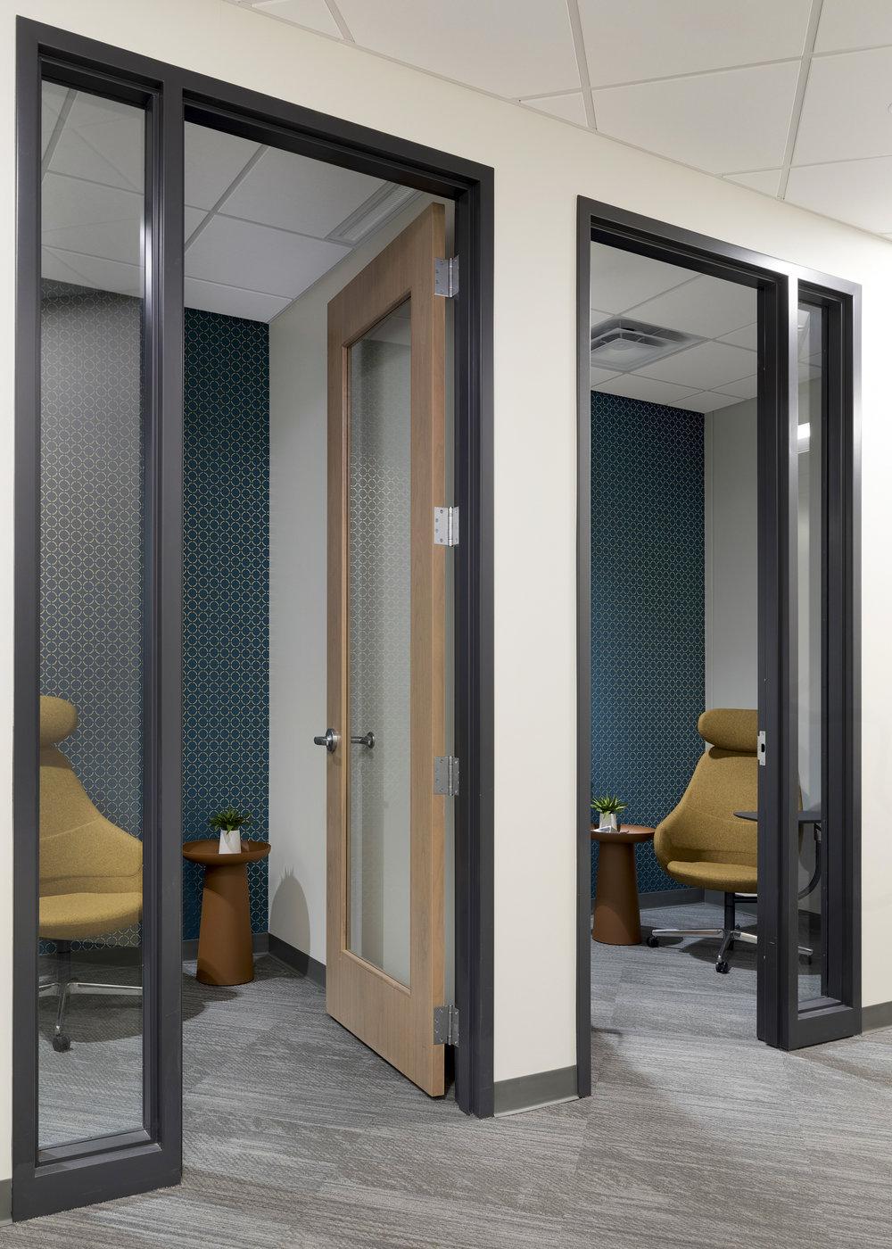 Phone Rooms | Vela Creative Interior Design | St. Paul, MN