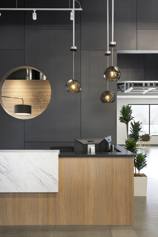 Reception Desk Design | Vela Creative Interior Design | Minneapolis, MN