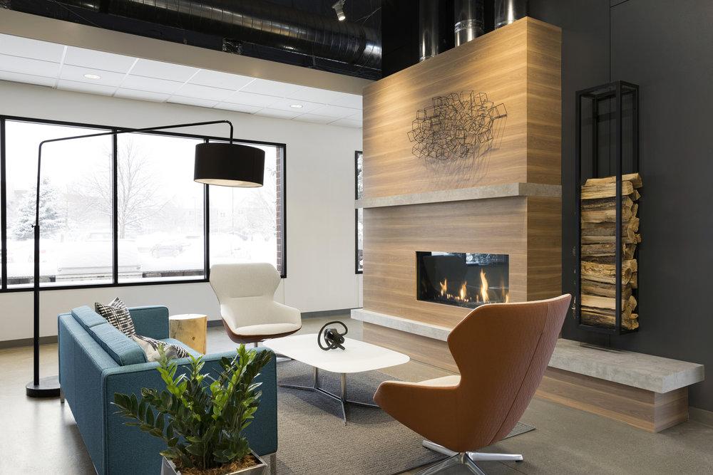 Lounge Space | Vela Creative Interior Design | Minneapolis St. Paul