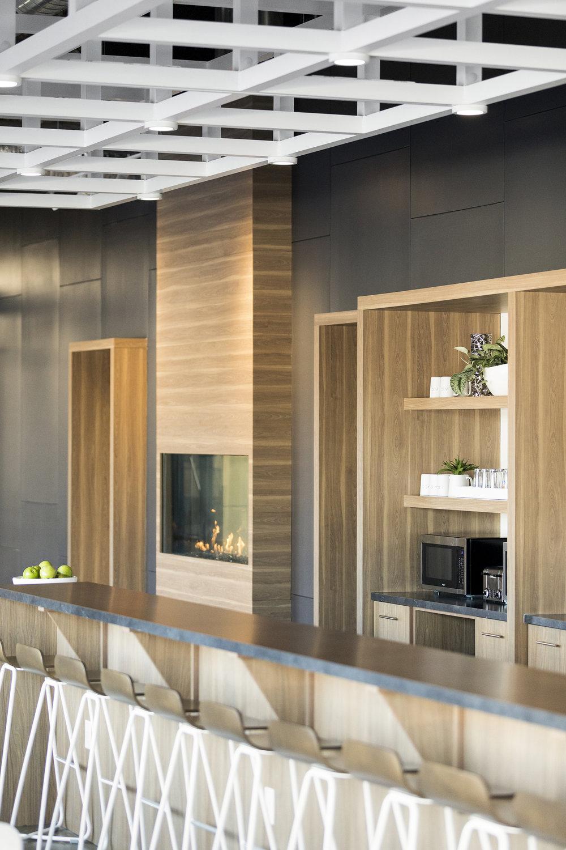 Modern Break Room Design | Vela Creative