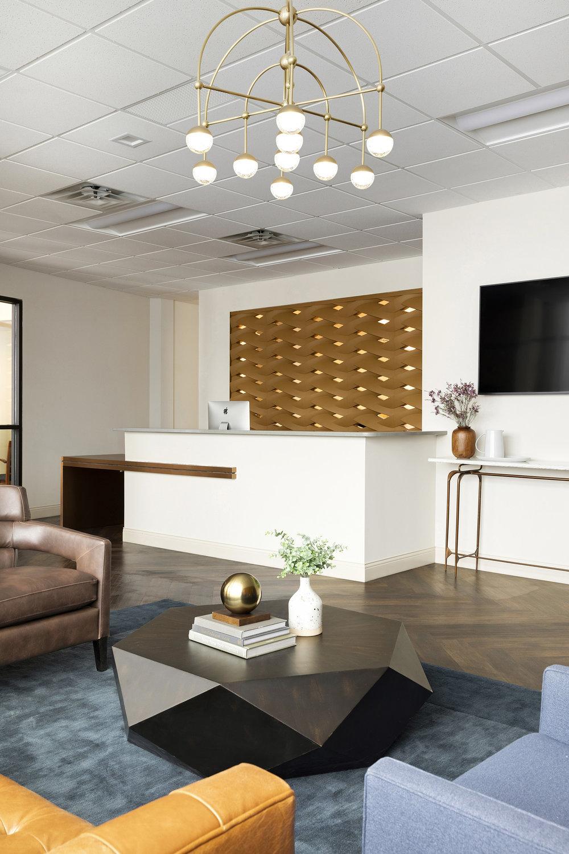 Modern Reception Area | Vela Creative Interior Design