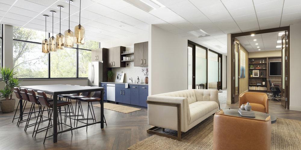 Lounge & Break Room | Vela Creative Interior Design
