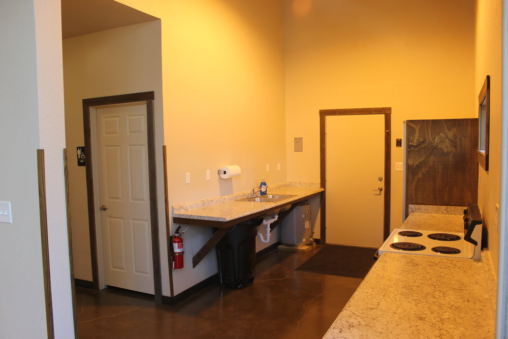Barn Kitchenette and serving area