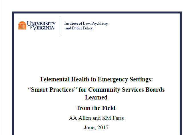 """TMH in Emergency Settings: """"Smart Practices"""" for Community Services Boards Learned from the Field"""