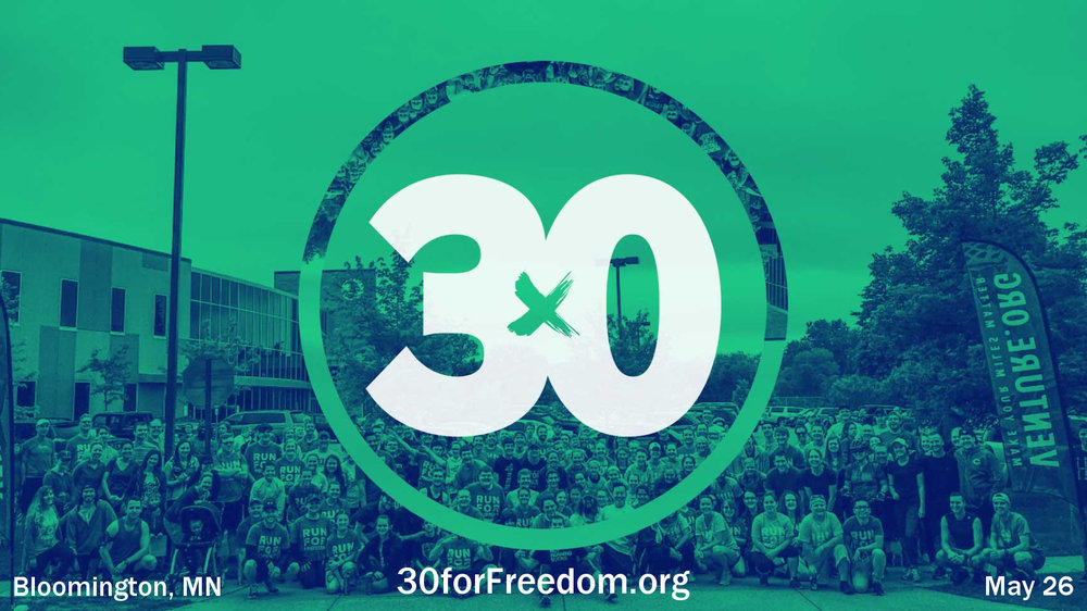 30 for Freedom    Ending Sex Trafficking in Our Lifetime