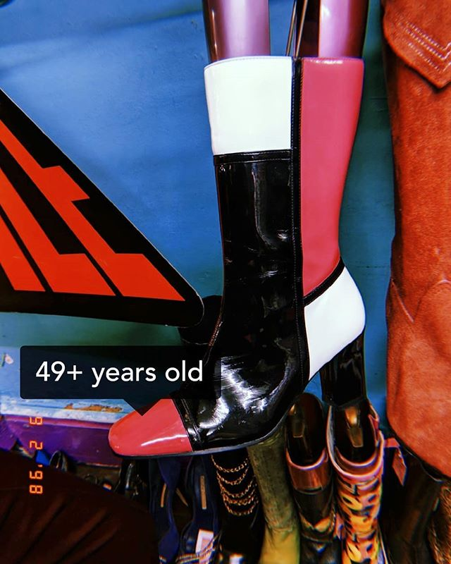 •all the things that tempt me• god it's hard not to impulse buy the perfect vintage boots only in your size, or the essential weekend bag that seems like it was made for you or a pristine silk scarf that only fits your neck.... I see them in my dreams and when I'm planning outfits, I wish I had them... But I'm wondering how long it takes for this feeling of excitement to go away. When I actually own an item, it's usually around the one month mark when my admiration's half life kicks in. So how do we continue to get excited about the things we do have and painlessly forget the things we don't? I have no bloody idea, because I'm still dreaming about these boots. I'll let you know when I stop. #noshoppingforayear . . .. . . . . . .#wewearculture #🔥 #🔥🔥🔥🔥🔥🔥🔥🔥🔥🔥🔥🔥🔥🔥🔥🔥🔥🔥🔥🔥🔥🔥🔥🔥🔥🔥🔥🔥🔥🔥🔥🔥🔥 #london #stylist #newpost #mood #instablogger #shopping  #sustainability #thriftstorefinds  #sustainablefashion #vintage #vintageclothing #sustainable #sustfash  #makeup #dazed #new #beauty #blog  #blahblahblah #blogblogblah