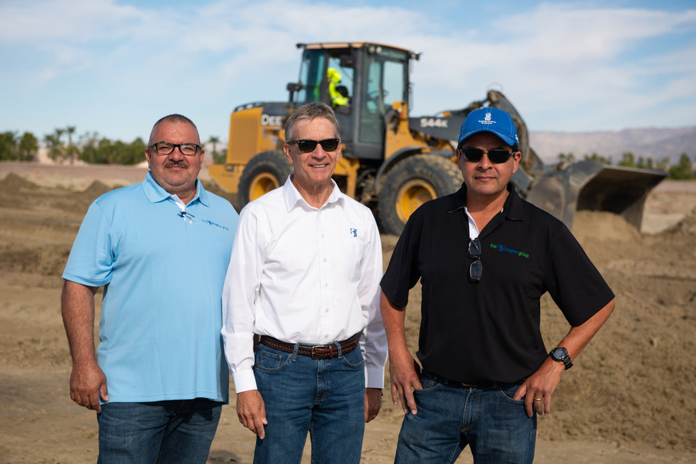 [from left to right] Gilbert Lopez, Superintendent; Bruce Maize, COO; Albert Jimenez, Assistant Superintendent.  (Photo Credit: Daniel J. Eslinger)