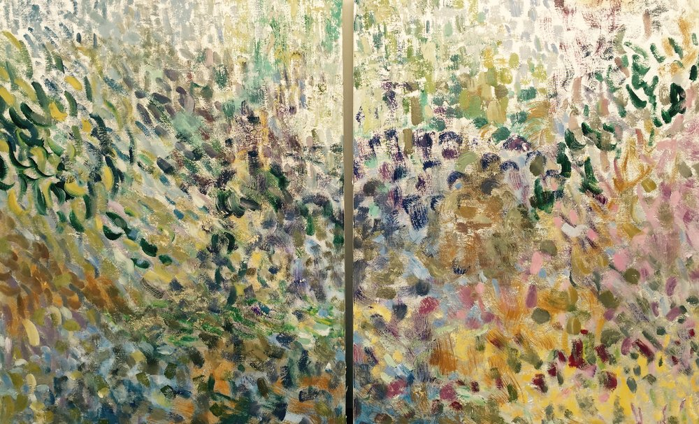Letting Go*<br>30 x 48 in. total, diptych