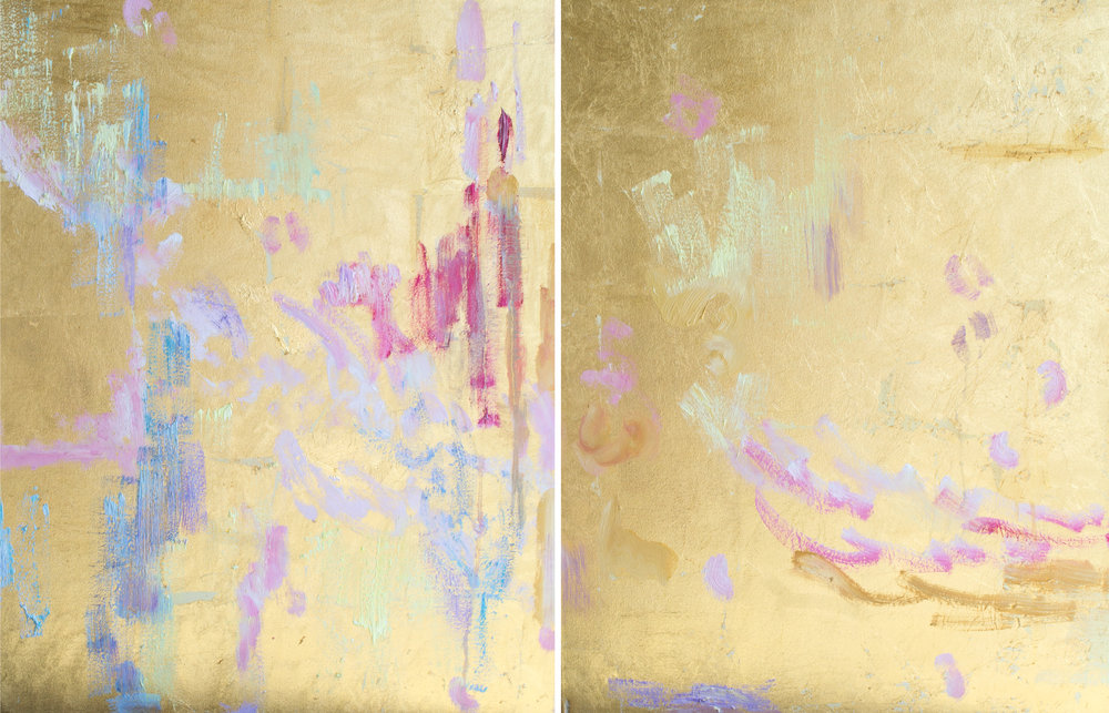 Rapture#28 x 44 in. total, diptych