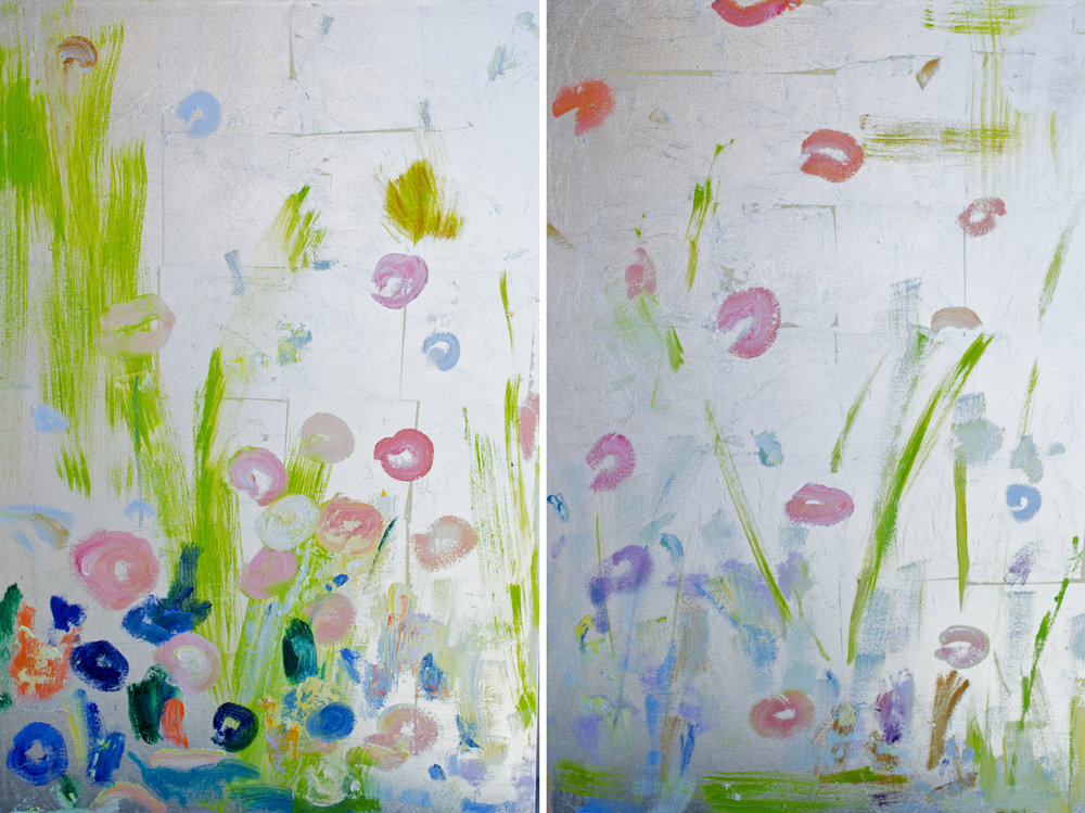 Refresh<br>36 x 48 in. total, diptych