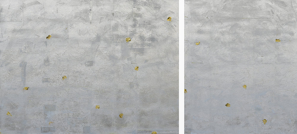 Illusion of Separation<br>36 x 78 in. total, diptych
