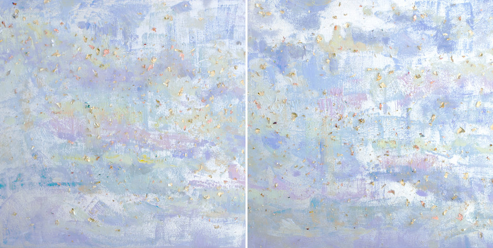 Through the Light*<br>20 x 40 in. total, diptych