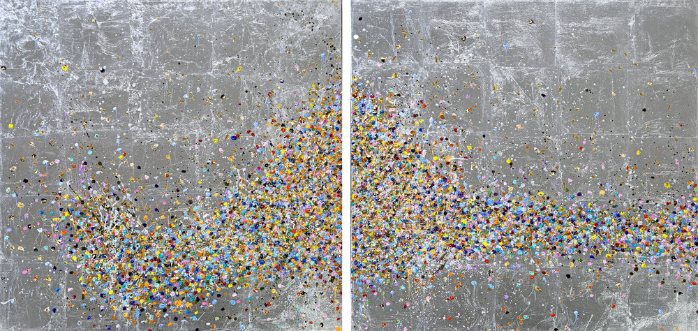 Inwards & Outwards II*#30 x 60 in. total, diptych