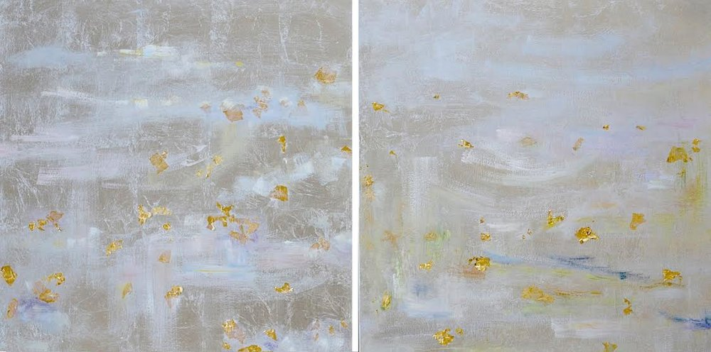 Breath I & II#30 x 60 in. total, diptych