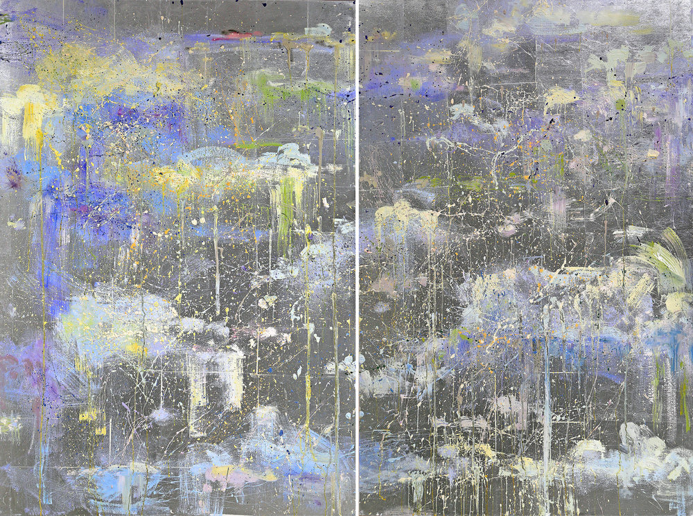 Dreams I and II <br>60 x 80 in. total, diptych