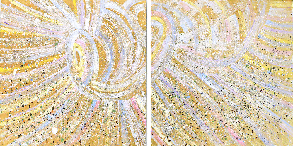The World, XXI#36 x 72 in. total, diptych