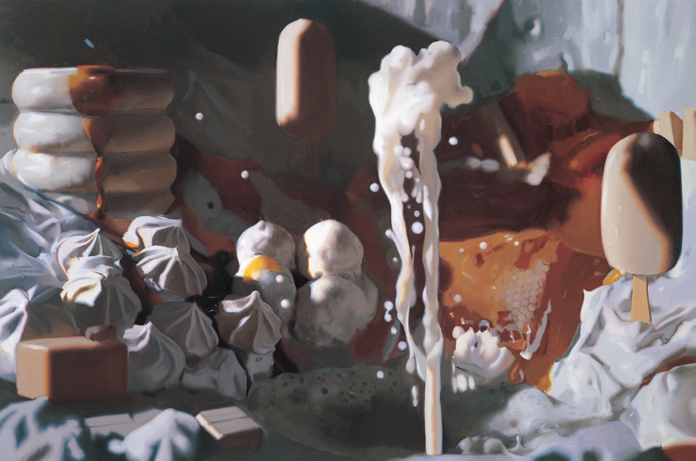 Will Cotton, Cream, 1999, oil on linen, 48 x 72 inches. All images courtesy of the artist and Mary Boone Gallery