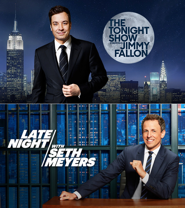 LATE NIGHT TV WITH FALLON AND MEYERS