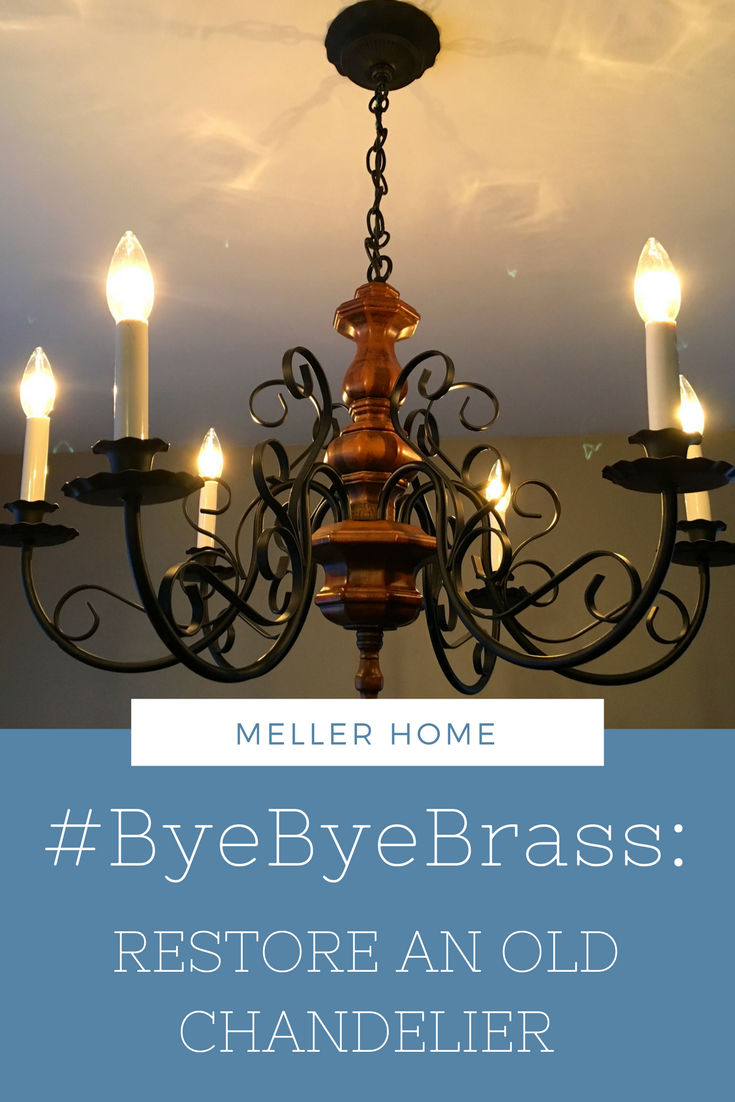 Restore an old chandelier. Breathe new life into a vintage find with some easy steps. #MellerHome
