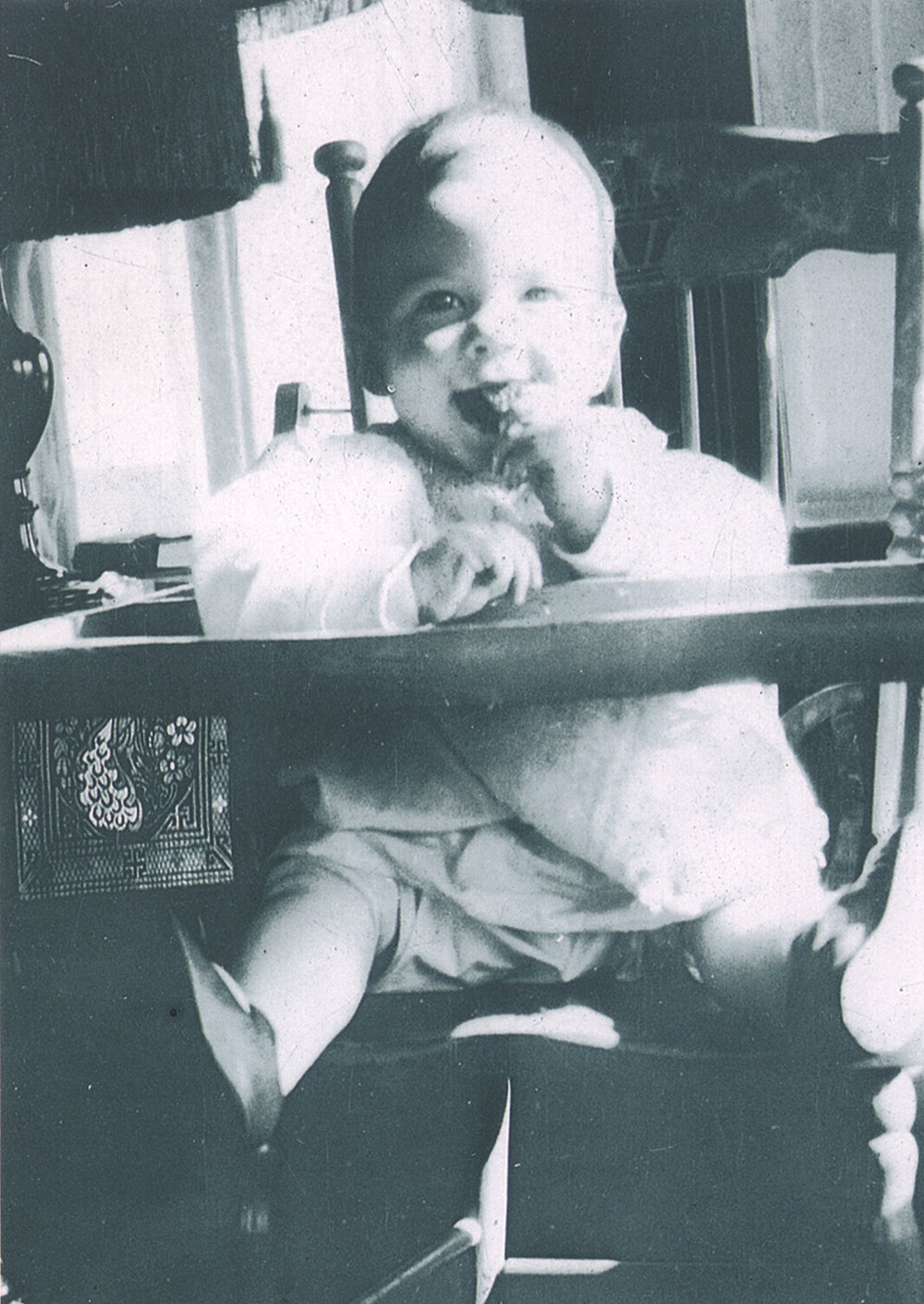 Bill Hayes baby in high chair .jpg
