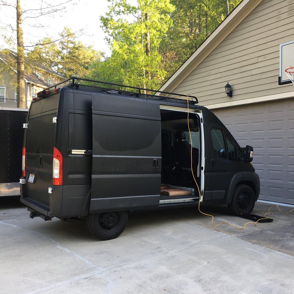 The Adventure Van on Day 1.