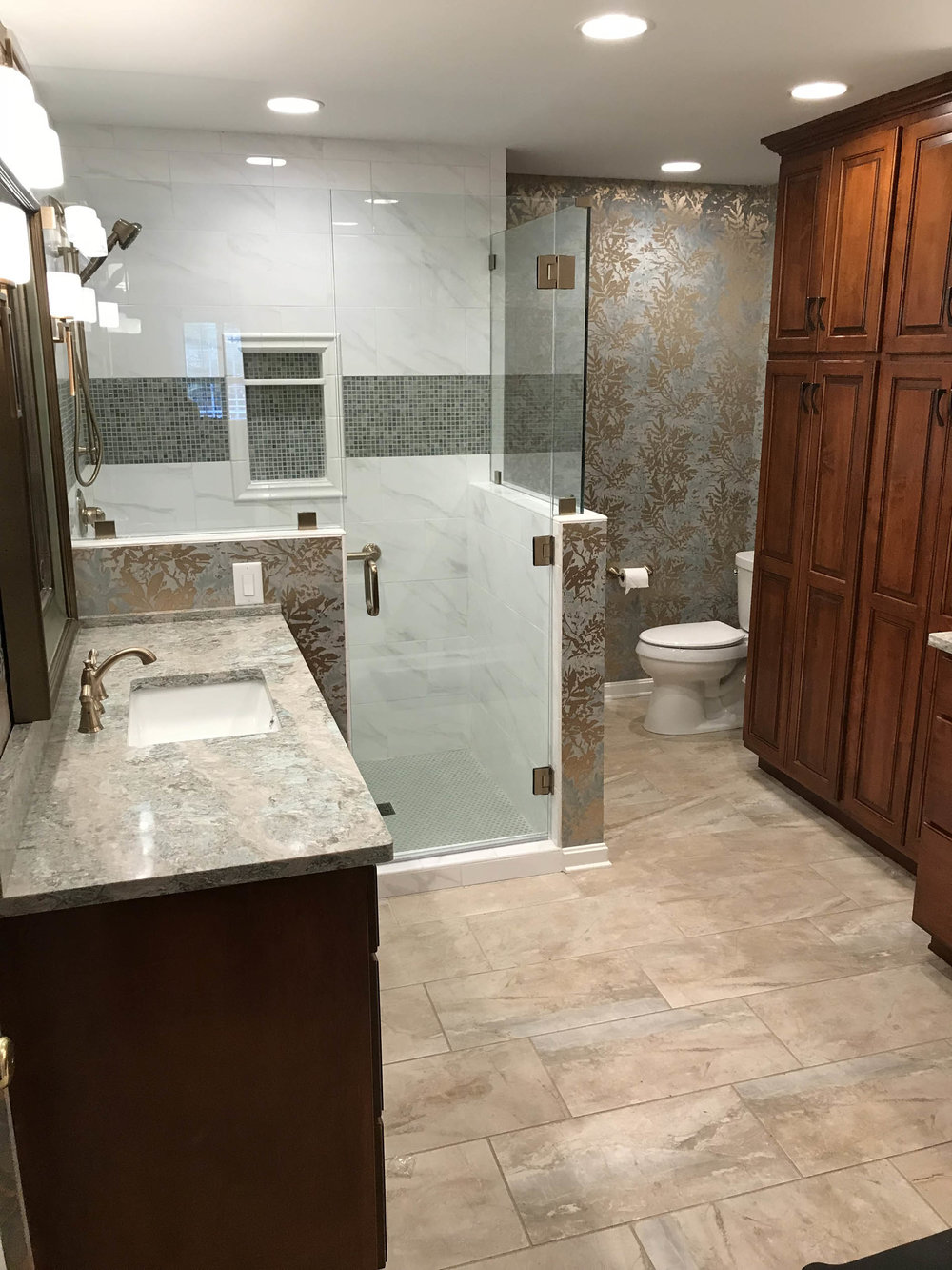 Exceptional Bathroom Upgrade - Tile, Glass, Stone, & Wood