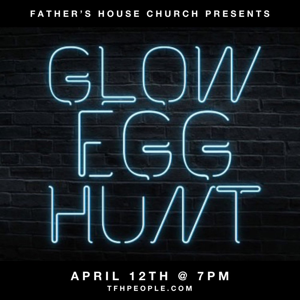 Glow Egg Hunt - Food. Glow in the dark egg hunt.Bring a bucket/bag to collect eggs in.Kindergarten through 6th grade.1 year old - pre-k, accompanied by an adult.