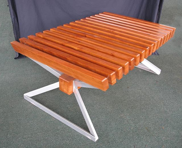#tbt The first piece of furniture I built 10 years ago with cherry and angle iron steel