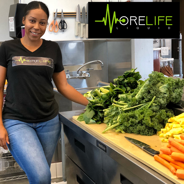 Ashley D. - Small Business GrantSeeds of Hope provided Ashley a small business grant to assist her with some equipment purchases for her Juice Bar - MoreLife Liquid - www.morelifeliquid.com.