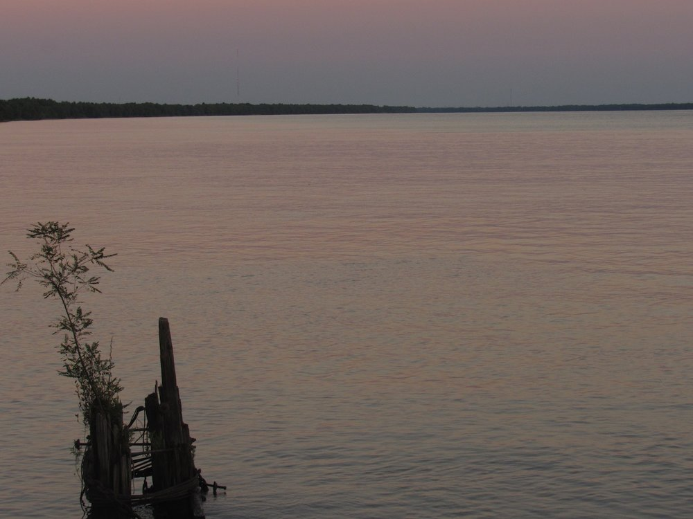 Dusk on the Mississippi River, Point a la Hache, Louisiana