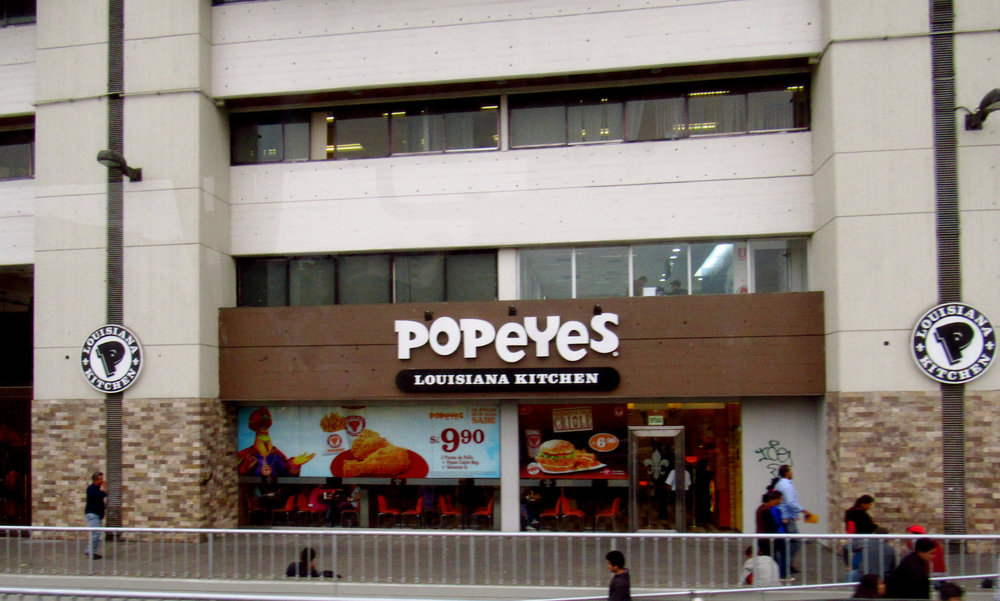 Popeyes, in Lima, the Culinary Capital of the World, b/c it just seemed wrong to not include it in a blog on quinoa
