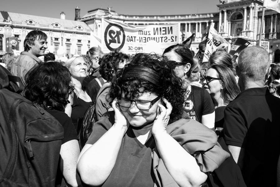 AUSTRIA / Vienna / 30.06.2018 / Demonstration gegen den 12 Stunden Arbeitstag© Alexander Magedlerwww.magedler.com