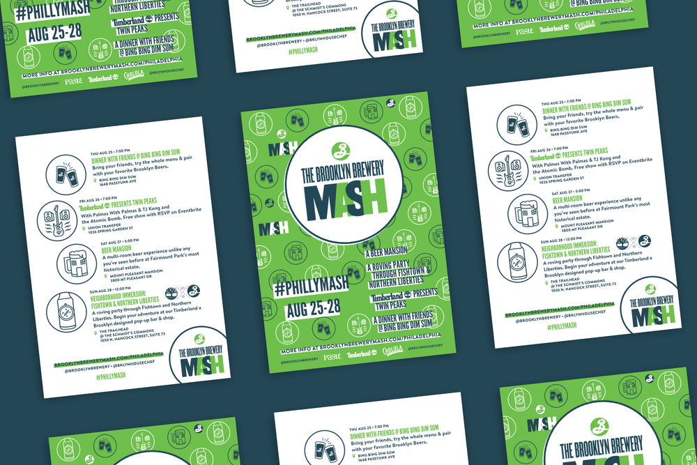 Print postcards designed in the identity I developed for an international beer event series.