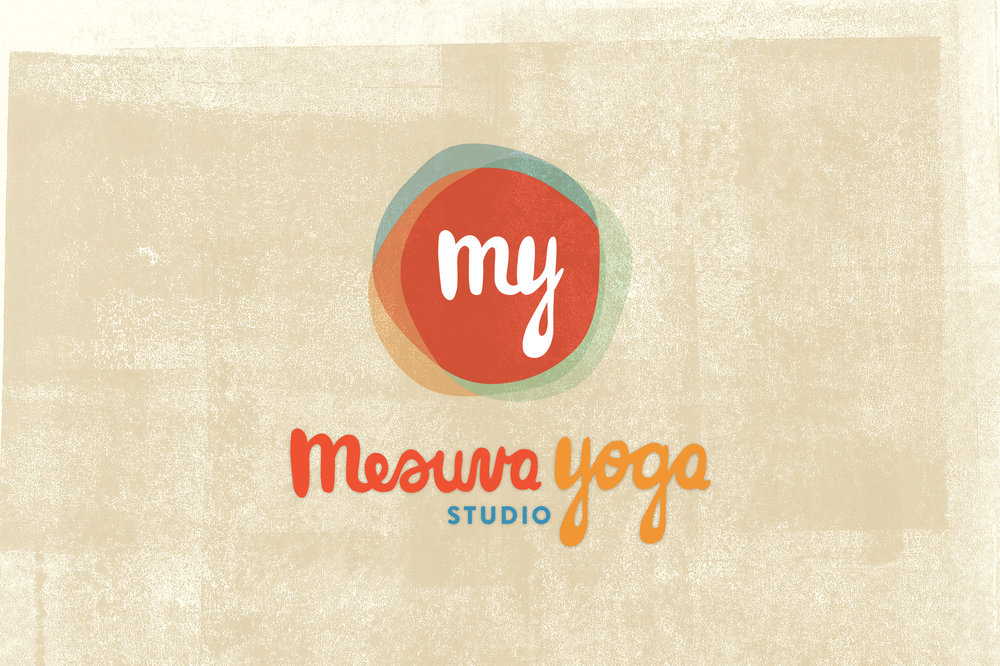 Branding and logo design for a non-profit yoga studio. Includes poster, t-shirt, sticker, and tote bag designs.