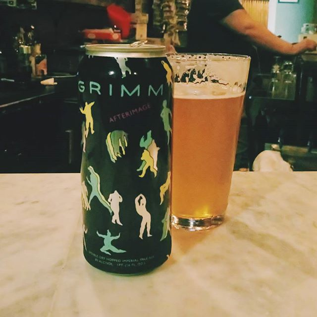 I love this spot, and I love this beer -- @grimmales @hopshillbar #beer #craftbeer #craftnyc #nycbeer #localbeer #drinklocal #bkbeer #brooklynbeer #local #localbar #mylocal #clintonhill #brooklyn #cans #thereisadoginhere #yaydogs