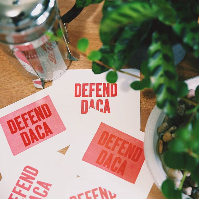 Letterpress #DefendDACA prints by @bigjumppress, who taught me printing on the Vandercook way back when. But more importantly, call your senators. -- #letterpress #ephemera #design #immigration #daca