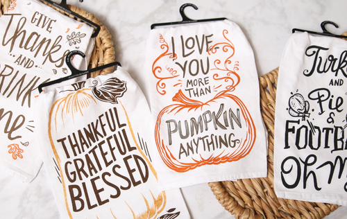Pumpkin Dishtowels - 6.97 (9.99) value - at Jeffrey Alans