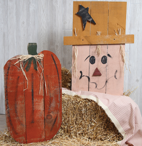 """32"""" Tall Barnwood Pumpkin and Scarecrow – 29.97 (39.99 value) - at Jeffrey Alans"""