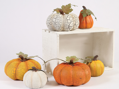 Crackle Pumpkins - 4.97 and up - at Jeffrey Alans